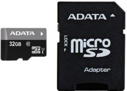 ADATA microSDHC 32GB Class 10 UHS-I AUSDH32GUICL10-RA1