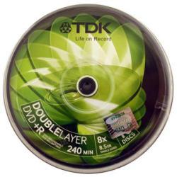 TDK DVD+R 8.5GB 8x - Henger 10db Dual layer