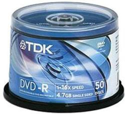 TDK DVD-R 4.7GB 16x - Henger 50db