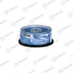 TDK DVD-R 4.7GB 16x - Henger 25db (DVD-R47CBED25)