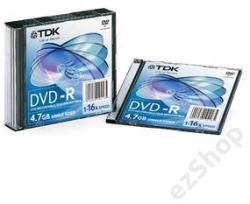 TDK DVD-R 4.7GB 16x - Vékony tok 10db