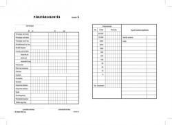 Victoria Nyomtatvány, pénztárjelentés, 25x2, A5, B. Kisker-104