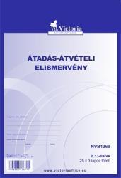 Victoria Nyomtatvány, átadás-átvételi elismervény, 25x3, A5, B. 13-69