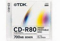 TDK CD-R 700MB 52x - Vékony tok 10db (CD-R80SCA10)
