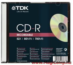 TDK CD-R 700MB 52x - Vékony tok
