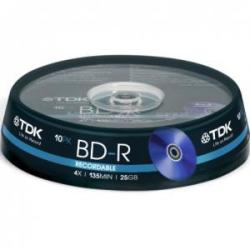 TDK BD-R 25Gb 4X - шпиндел 10бр