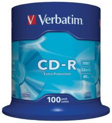 Verbatim CD-R 700MB 52x - Henger 100db Crystal AZO (CDV7052B100)