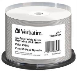 Verbatim CD-R 700MB 52X - Henger 50db AZO Szélesen nyomtatható