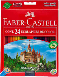 Faber-Castell Creioane colorate eco 24 buc/set FABER-CASTELL