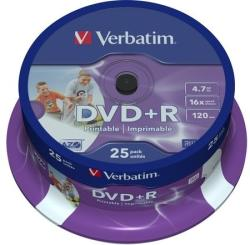 Verbatim DVD+R 4.7GB 16x - Henger 25db Nyomtatható