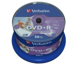 Verbatim DVD+R 4.7GB 16x - Henger 50db Nyomtatható