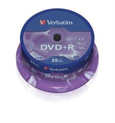 Verbatim DVD+R 4.7GB 16x - Henger 25db AZO