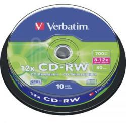 Verbatim CD-RW 700mb 12x - шпиндел 10бр