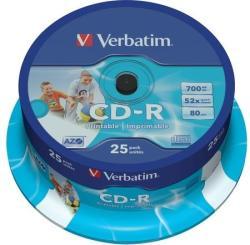 Verbatim CD-R 700MB 52x - Henger 25db Nyomtatható