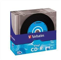 Verbatim CD-R 700MB 52x - Vékony tok 10db Vinyl