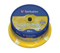 Verbatim DVD+RW 4.7GB - Henger 25db SERL