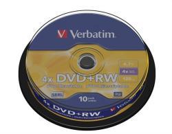 Verbatim DVD+RW 4.7GB 4x - Henger 10db SERL (DVDVU+4B10)