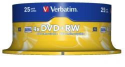 Verbatim DVD+RW 4.7GB 4x - Henger 25db (43489)