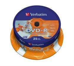 Verbatim DVD-R 4.7GB 16x - Henger 25db Nyomtatható Azo