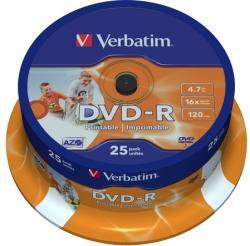 Verbatim DVD-R 4.7GB 16x - Henger 25db Nyomtatható
