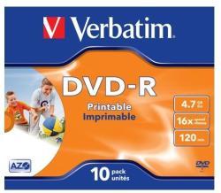 Verbatim DVD-R 4.7GB 16x - Nyomtatható