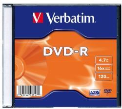 Verbatim DVD-R 4.7GB 16x - Vékony tok