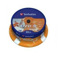 Verbatim DVD-R 4.7GB 16x - Suport rotund DVD 25buc. (43522)