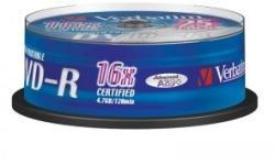 Verbatim DVD-R 4.7GB 16x - Suport rotund 25buc. Printable (43538)