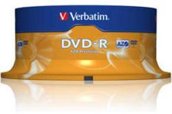 Verbatim DVD-R 4.7GB 16X - Шпиндел 25бр. Azo