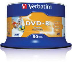 Verbatim DVD-R 4.7GB 16X - Шпиндел 50бр. Wide Printable