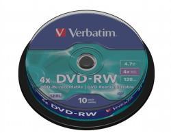 Verbatim DVD-RW 4.7GB 4x - Henger 10db SERL (DVDVU-4B10)