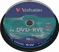 Verbatim DVD-RW 4.7GB 4x - Henger 10db