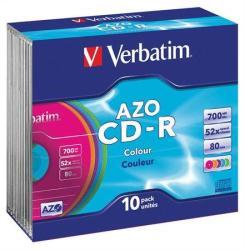 Verbatim CD-R 700MB 52x - Vékony tok Crystal AZO