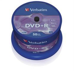 Verbatim DVD+R 4.7GB 16x - Henger 50db AZO (DVDV+16B50)