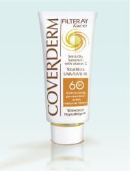Coverderm Filteray Face SPF 60 - fényvédő krém arcra