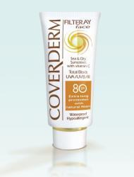 Coverderm Filteray Face SPF 80 - fényvédő krém arcra