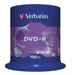 Verbatim DVD+R 4.7GB 16x - Henger 100db AZO (DVDV+16B100)