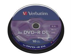 Verbatim DVD+R 8.5GB 8x - Henger 10db Dual layer (DVDV+8DLB10)