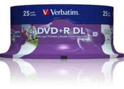 Verbatim DVD+R 8.5Gb 8X - Шпиндел 25бр. Dual layer Printable