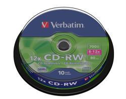 Verbatim CD-RW 700MB 10x - Henger 10db (CDVU7010B10)