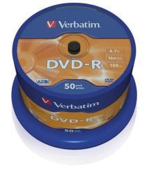 Verbatim DVD-R 4.7GB 16x - Henger 50db AZO (DVDV-16B50)