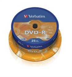 Verbatim DVD-R 4.7GB 16x - Henger 25db (DVDV-16B25)