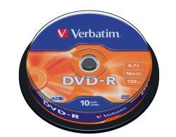 Verbatim DVD-R 4.7GB 16x - Henger 10db AZO (DVDV-16B10)