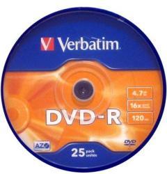 Verbatim DVD-R 4.7GB 16x - Henger 25db AZO
