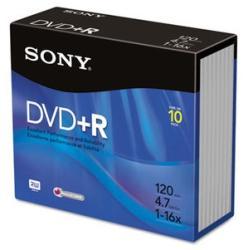 Sony DVD+R 4.7GB 16x - Vékony tok 10db (10DPR47SS)