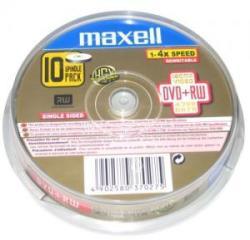 Maxell DVD+RW 4.7Gb 4X - шпиндел 10бр.