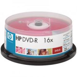 HP DVD-R 4.7Gb 16X - шпиндел 25бр.