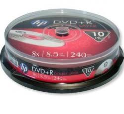 HP DVD+R 8.5Gb 8X - шпиндел 10бр. Dual Layer