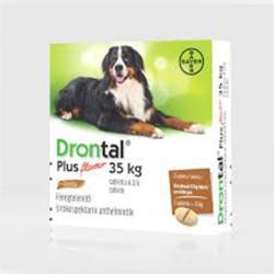 Drontal Dog Plus 35 Féreghajtó Tabletta Nagytestű Kutyának 35kg 1db