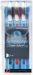 Schneider Slider Memo golyóstoll készlet 0.7mm, kupakos - Vegyes színek (TSCMEMV3)
